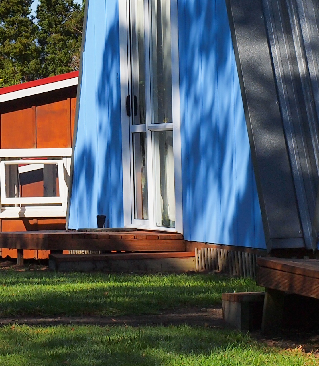 colorful wooden cabin